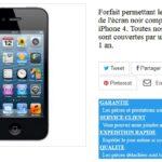 Achat d'un ecran iphone 4 neuf si vous l'avez cassé
